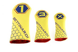 CLUB COVERS  (WOOD SET) YELLOW/RED